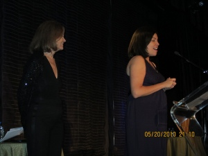 Silvia Henriquez and Gloria Steinem
