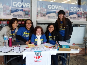 Five activists registering people to vote