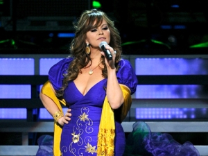 Jenni Rivera onstage during the 11th annual Latin GRAMMY Awards at the Mandalay Bay Events Center on November 11, 2010 in Las Vegas, Nevada.